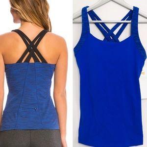 NWT Lucy Fitness Fix Tank Sapphire Blue szM